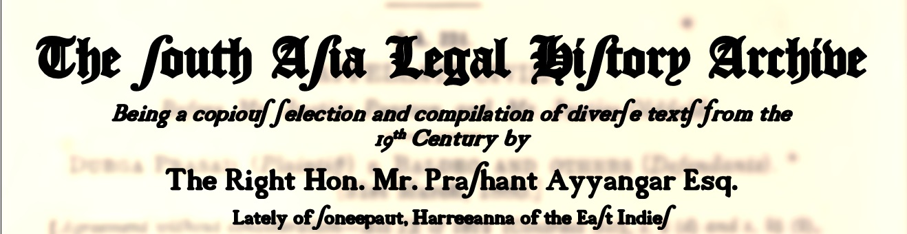 South Asian Legal History Archive